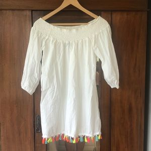 Forever 21 tasseled white dress/tunic